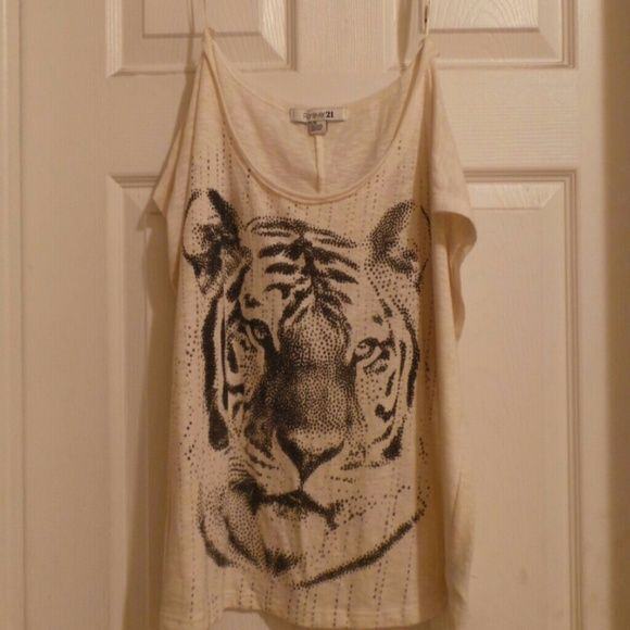 Croped tshirt Loose fit shirt Forever 21 Tops Tees - Short Sleeve