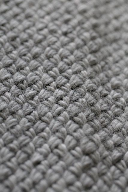 Hand Knit Soft Grey Alpaca Basket Weave Throw Blanket Afghan Warm and Texture...
