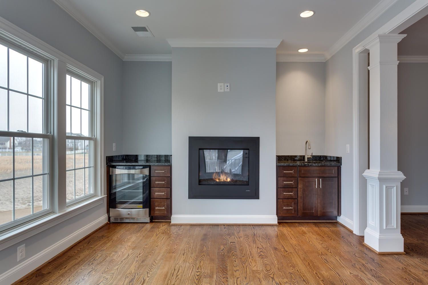 Master Bedroom Coffee Bar & Fireplace | Kingston Royce Homes in 2019 ...
