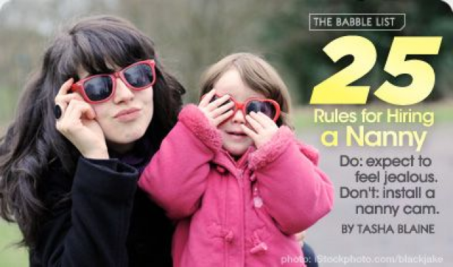25 Rules For Hiring A Nanny By Tasha Blaine Author Of Just Like