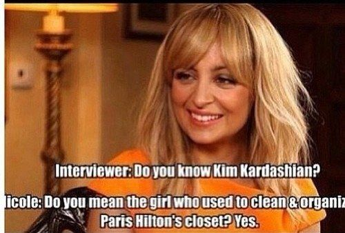When she got Nicole Richie in on the shading: | 8 Times Paris Hilton Made Kim Kardashian Feel Like Crap