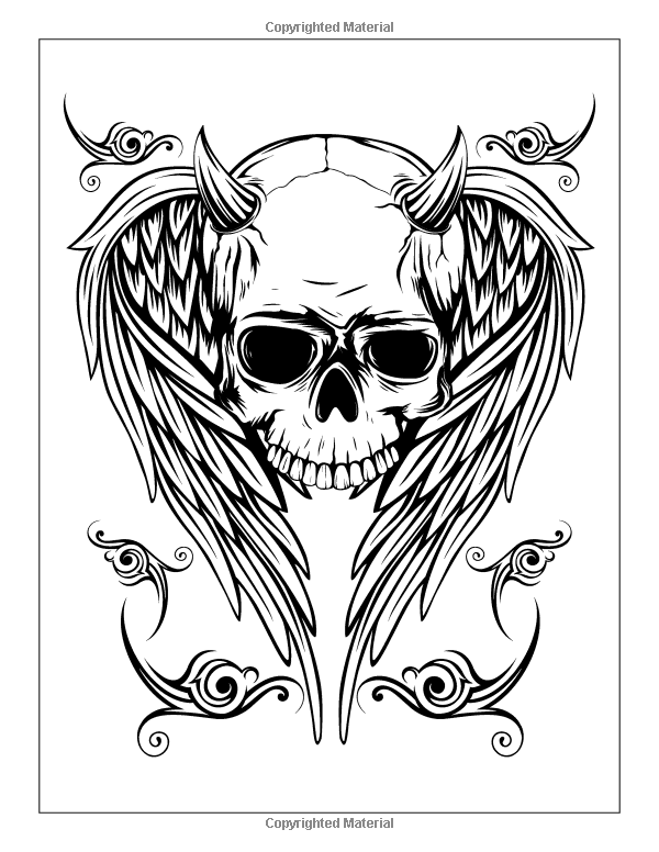 Tattoo Coloring Book: Modern Tattoo Designs, Skulls ...