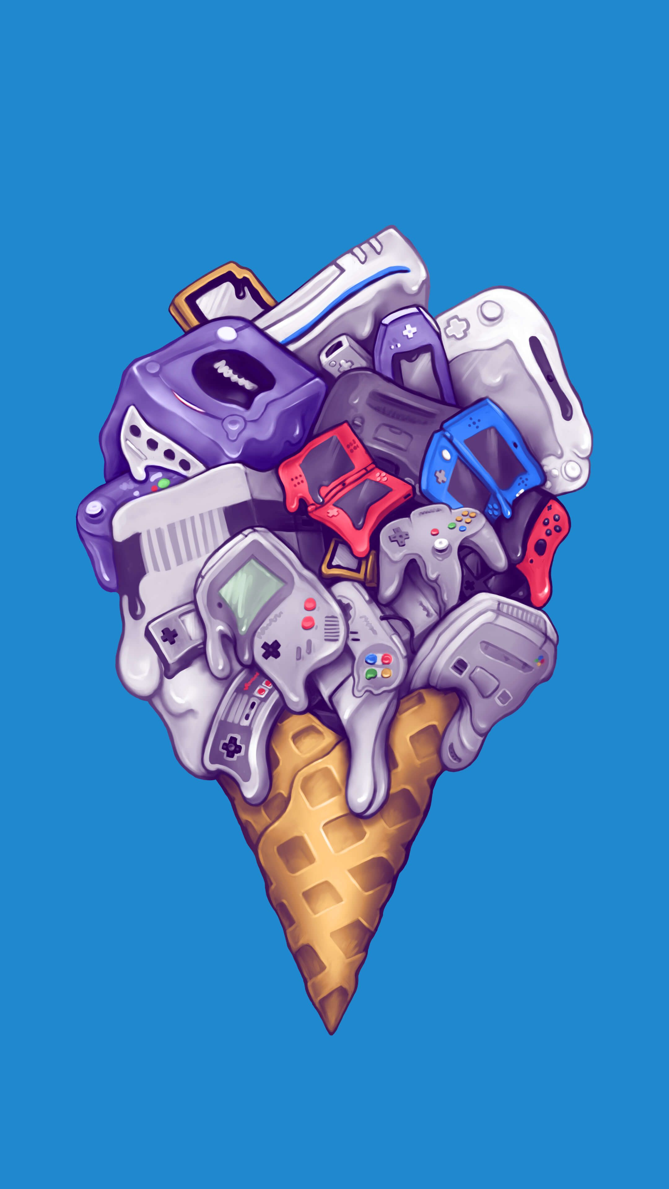 Ice cream Game wallpaper iphone, Nerdy wallpaper, Hd