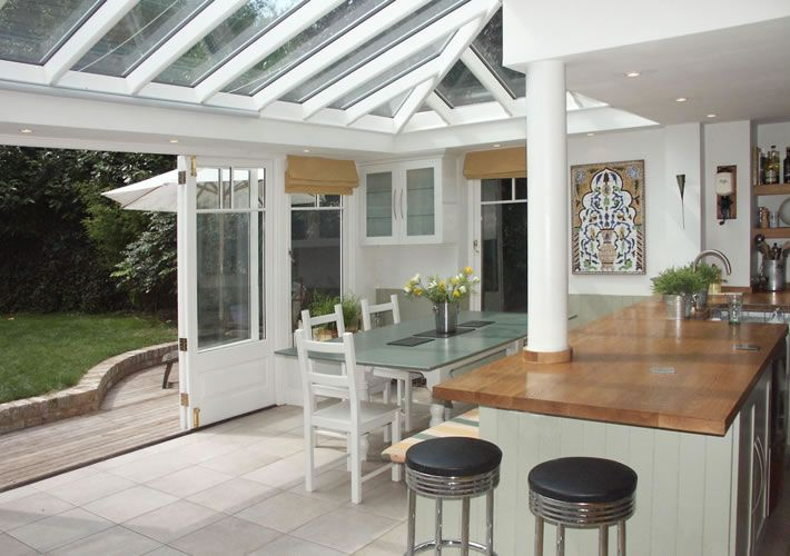 Kitchen conservatory home design for House plans with conservatory