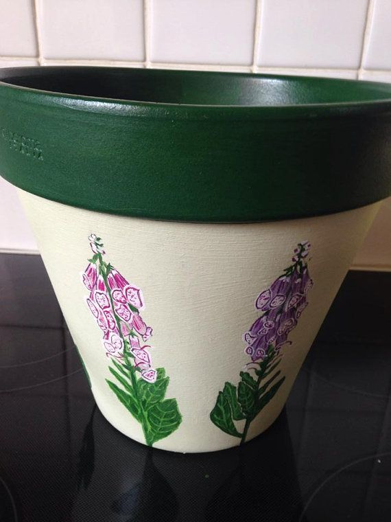 Your Place To Buy And Sell All Things Handmade Terracotta Plant Pots Hand Painted Light Green