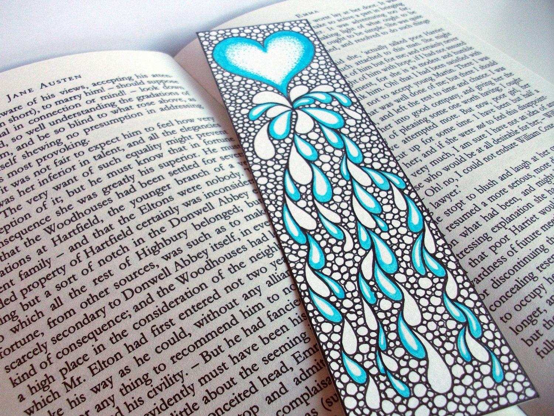 bookmark,   Zentangle/Doodles   Pinterest   Aquarell und Bilder