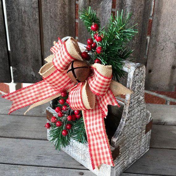 Christmas Card Holder, Christmas Gift Idea, Christmas Rustic Box