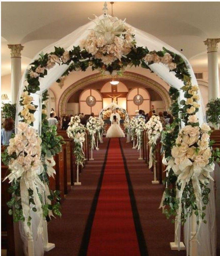 Pin de Magy Essam em wedding idea Decoração igreja
