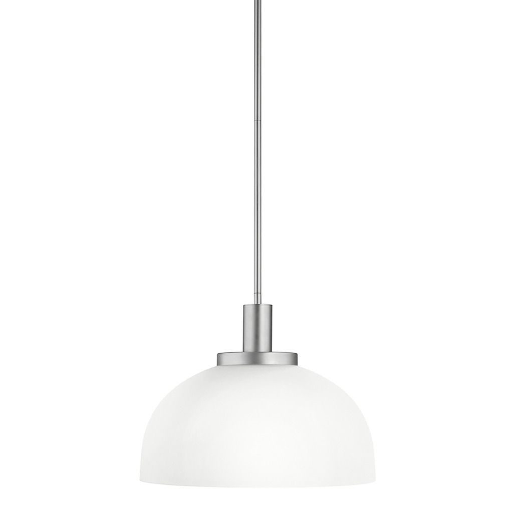 Aztec lighting transitional light brushed nickel pendant silver
