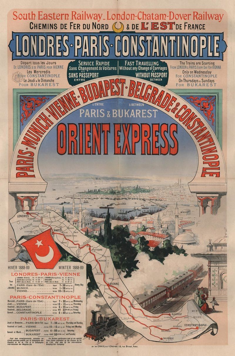 An illustrated history of the orient express orient express train the orient express a luxury train service connecting paris to constantinople was the figurehead of the belle poque and remained closely connected to fandeluxe Choice Image