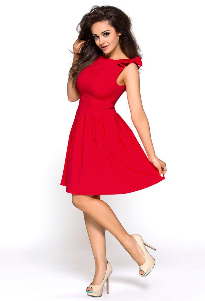 Sukienka Km112 2 Czerwona W Oui Pl Dresses Plus Size Black Dresses Elegant Dresses