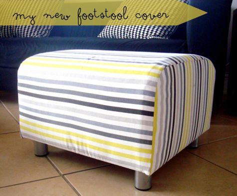 Diy Klippan Footstool Cover Footstool Ikea Footstool Diy Footstool