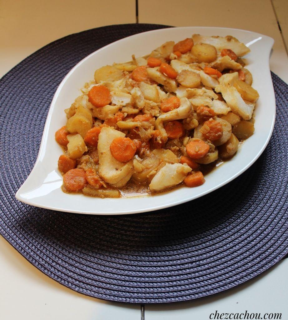 Dos de cabillaud aux carottes et pommes de terre réalisé au Cookeo