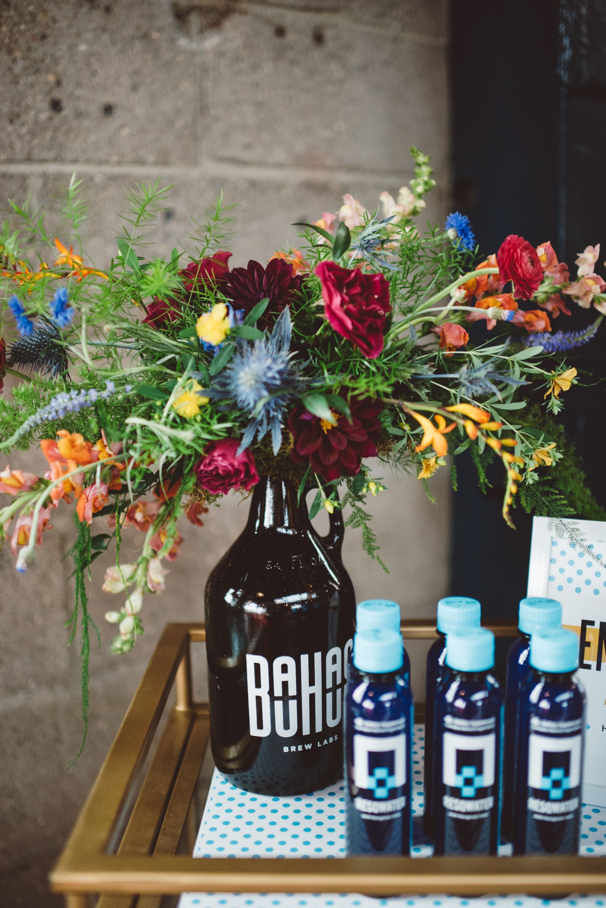Wildflower Arrangements in Beer Growlers in 2020 Beer