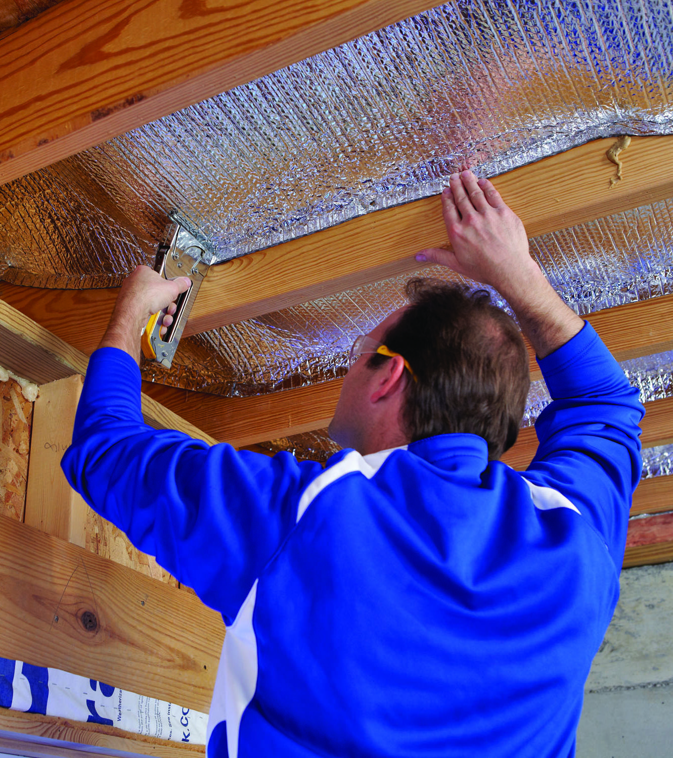 An Easy Addition To Your Attic Or Water Heater This Insulation Contains Two Highly Reflective Layer Basement Ceiling Reflective Insulation Basement Insulation