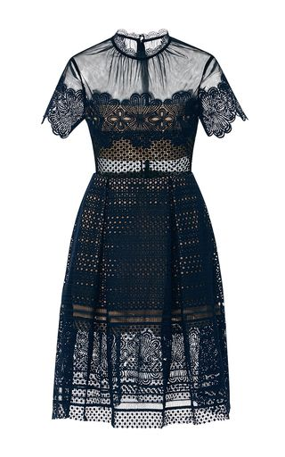 ddf51dd8d0c6 Felicia Embroidered Sheer Lace Dress by SELF PORTRAIT Now Available on Moda  Operandi