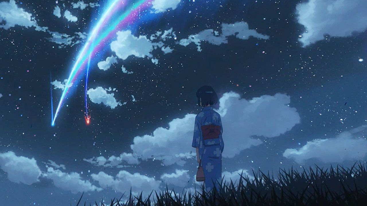 18 Beautiful Gifs That Show Off The Breathtaking World Of Your Name Your Name Anime Anime Wallpaper Anime Background 24 gif wallpaper anime