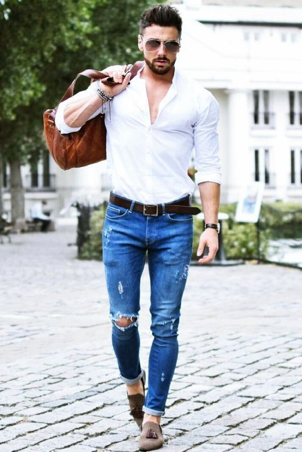 40 Best Formal Shirt Pant Combinations For Men Mens White Jeans