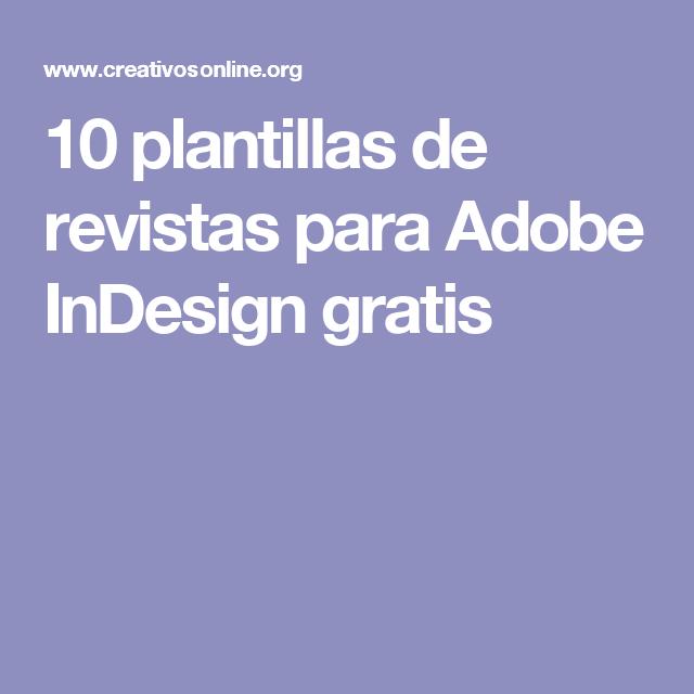 10 plantillas de revistas para Adobe InDesign gratis | Plantilla de ...