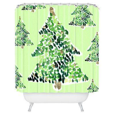 Brayden Studio Demasi Smells Like Christmas Shower Curtain