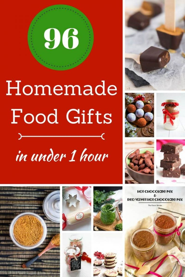 96 Homemade Christmas Food Gifts In Under One Hour | edible gifts ...