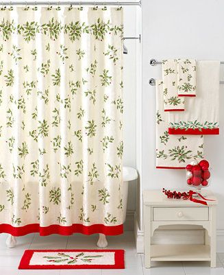 Lenox Bath Accessories Holiday Shower Curtain On Style