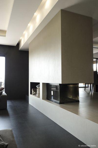 Cheminée intégrée - relooking intérieur maison F - Sebastien Belle ...