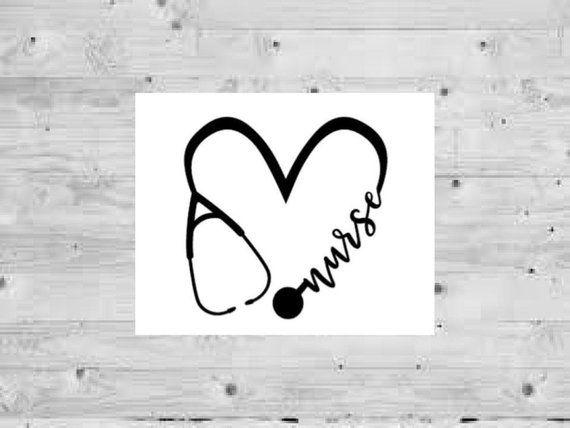 d6688ff8b01 Stethoscope Heart Decal, Nurse Decal, Love Nurse Decor, Custom car decal,  custom nurse decal, stethoscope Decal, doctor decal, Custom decal in 2019 |  Craft ...