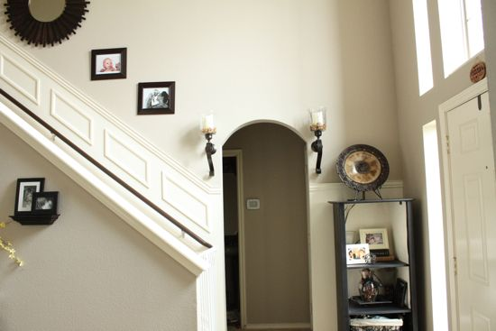 Sw balanced beige but used behr s paint and primer in one for Beige wall paint colors