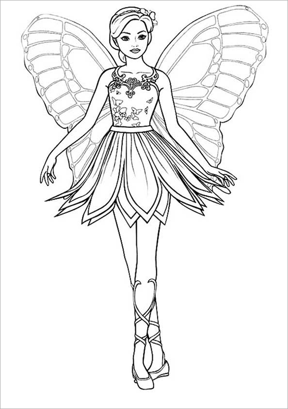 21 Barbie Coloring Pages Free Printable Word Pdf Png Fairy Coloring Pages Barbie Coloring Pages Ballerina Coloring Pages
