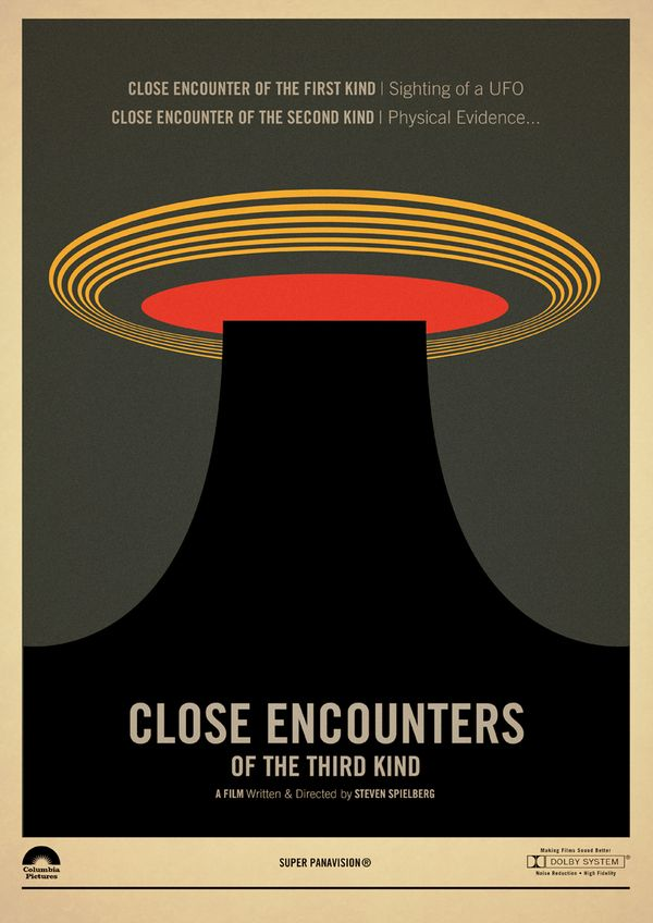 Close Encounters of the Third Kind - movie poster - Marcus Reed  오... 이 포스터들 모두 갖고 싶다. ㅎ~