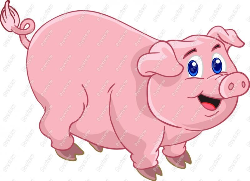 Cartoon Pig Clip Art Cute Pig Pig Cartoon Pig Images Pig Painting