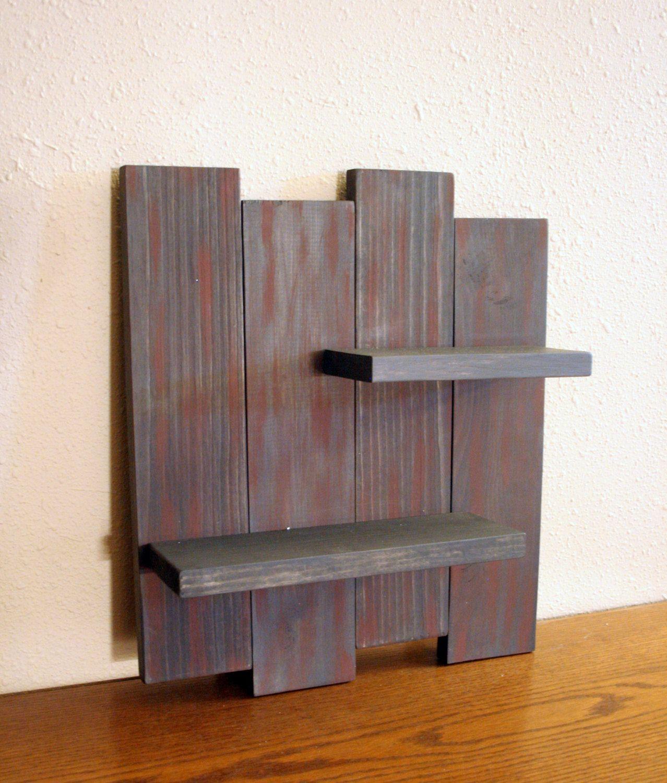 rustic wood wall shelf reclaimed wood shelf distressed wood