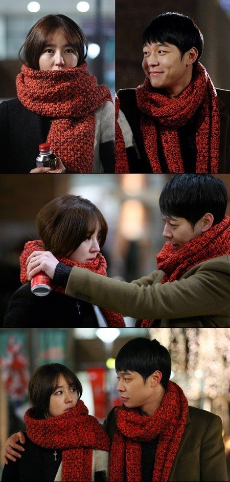 Park Yoochun and Yoon Eun Hye of I Miss You go on a christmas date. Beautiful couple (LSY & HJW )