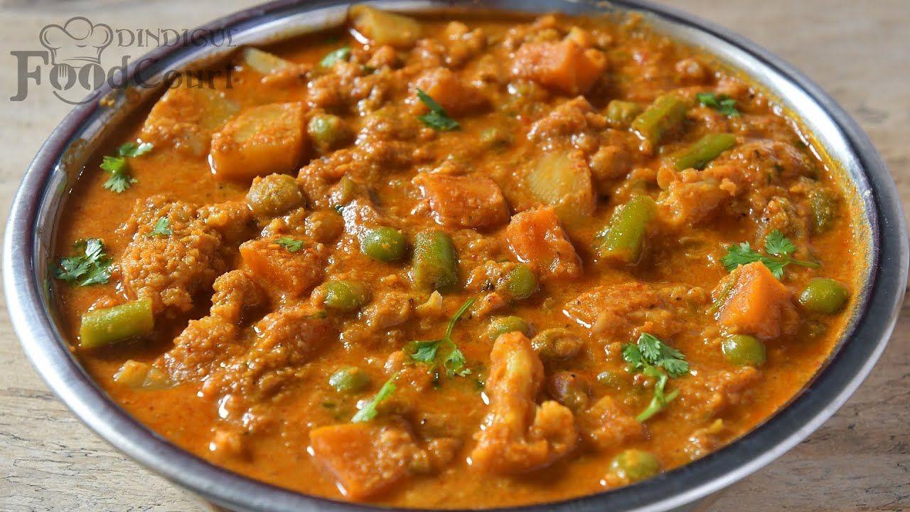 Hotel style veg kurma vegetable kurma side dish for