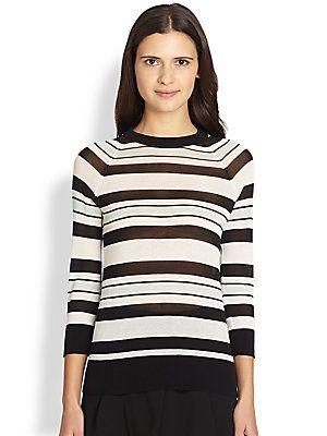 A.L.C. Theo Striped Cotton Sweater