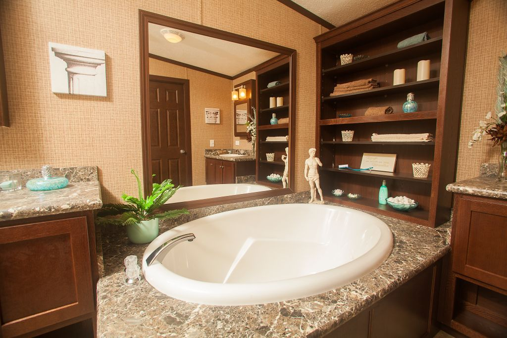 Colony Homes   A3209A   Eastland Ranch   Large Soaking Bathtub, Bookshelves  For Storage And