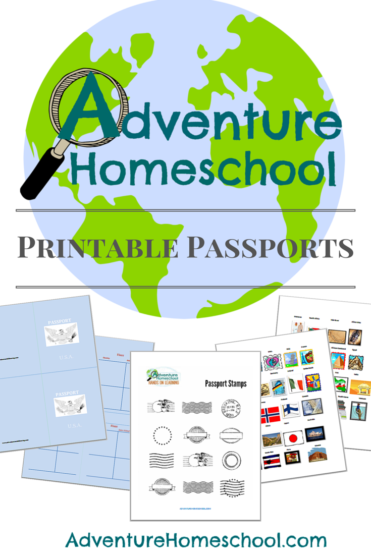 Free Printable Passports Country Stamps Geography Lessons Geography Activities Homeschool Social Studies