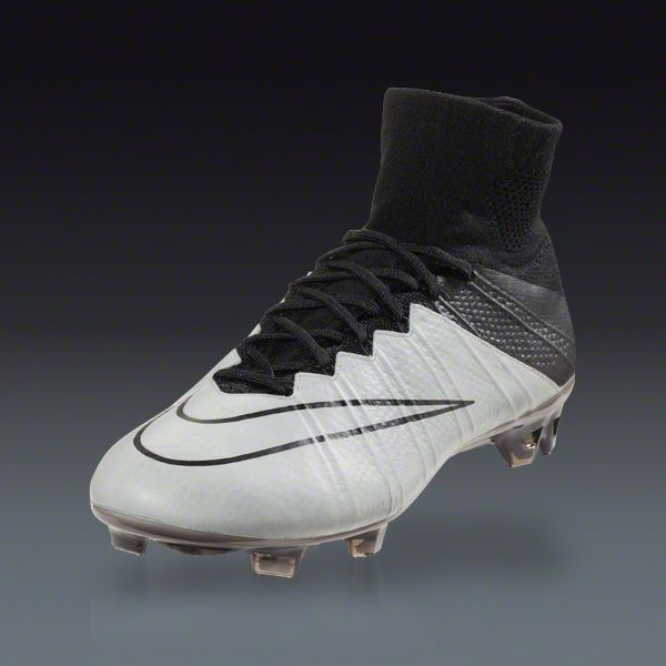 the best attitude c1ab3 f81fb Buy Nike Mercurial Superfly Leather FG - Light Bone WHITE-Black-Black Firm  Ground Soccer Cleats on SOCCER.COM. Best Price Guaranteed.