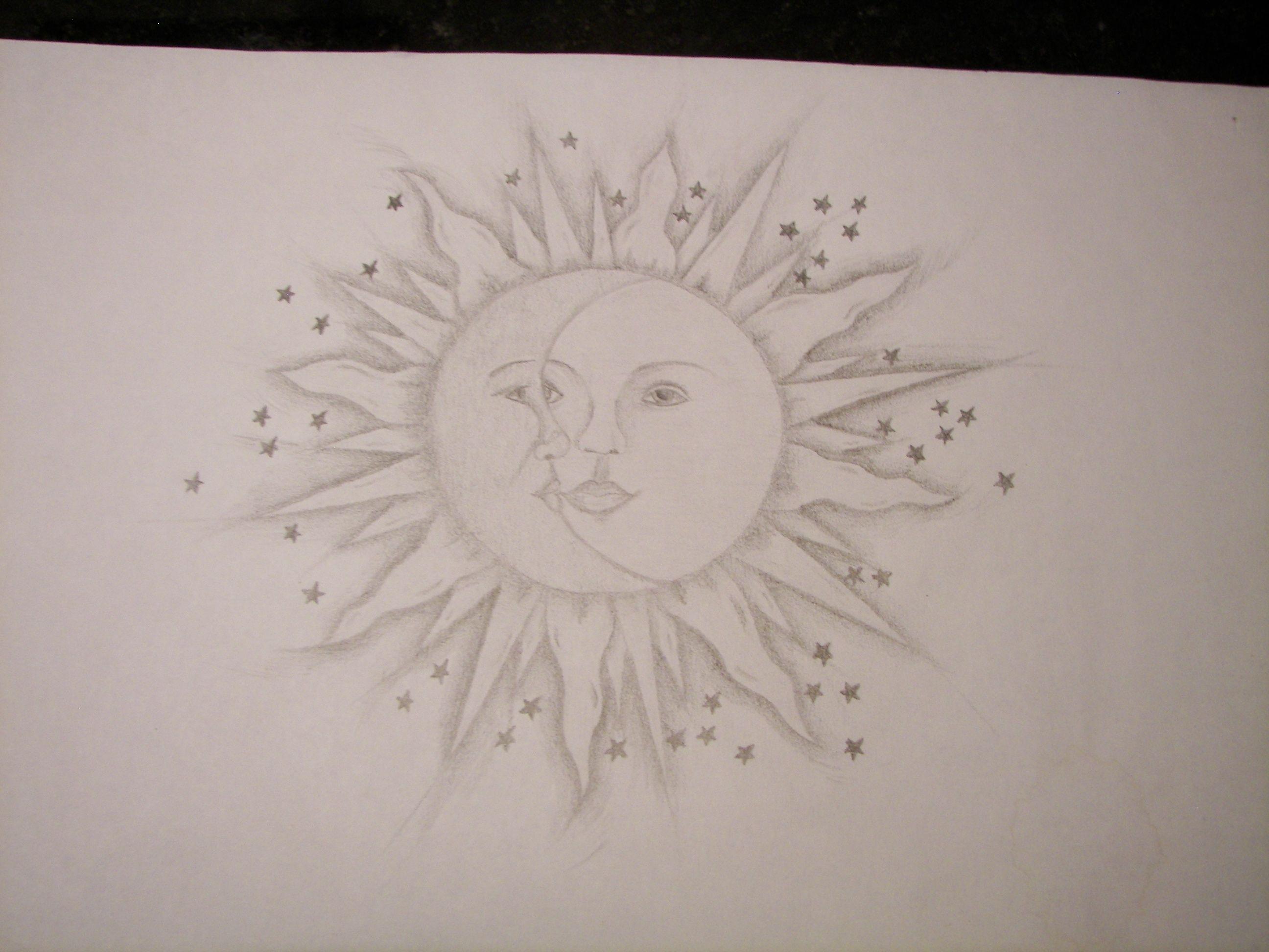 S - SUN & MOON DRAWING (pencil) | Tattoos | Pinterest ...