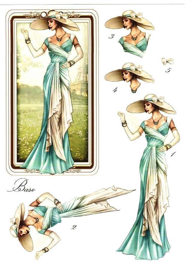 Debbi moore designs elegant moments card toppers 7 - Vintage karten basteln ...