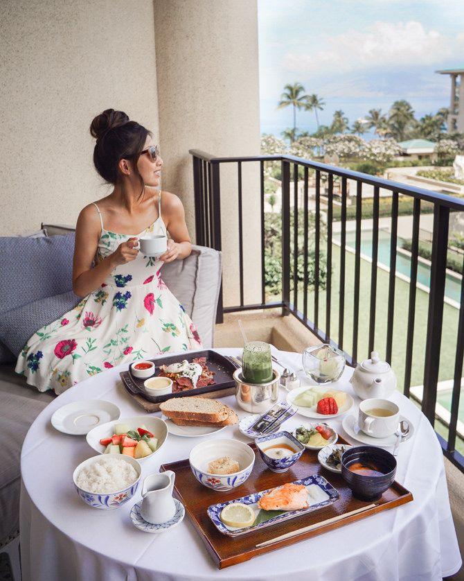 3e59461597 Resort Wear // Off shoulder bikini at the Four Seasons Maui | around ...