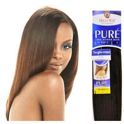 Pure Yaky Weave 16 Milkyway 100 Human Hair Weave Extensions 1b 30 By Milky Way 54 99 Human Hair Beauty Hair Extensions 100 Human Hair Extensions