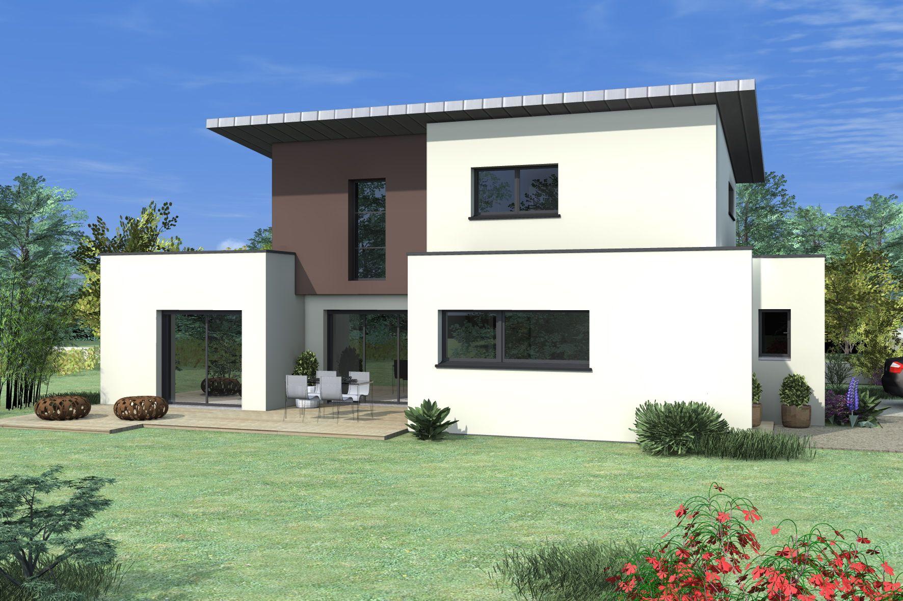Maison au toit plat et aux lignes cubiques elle s duit aussi par son enduit - Construction toit plat ...
