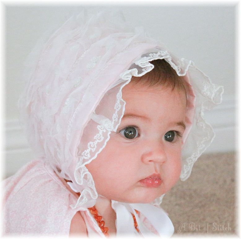 Pink version of the Embellisher Bonnet - such a sweet topper on such ...