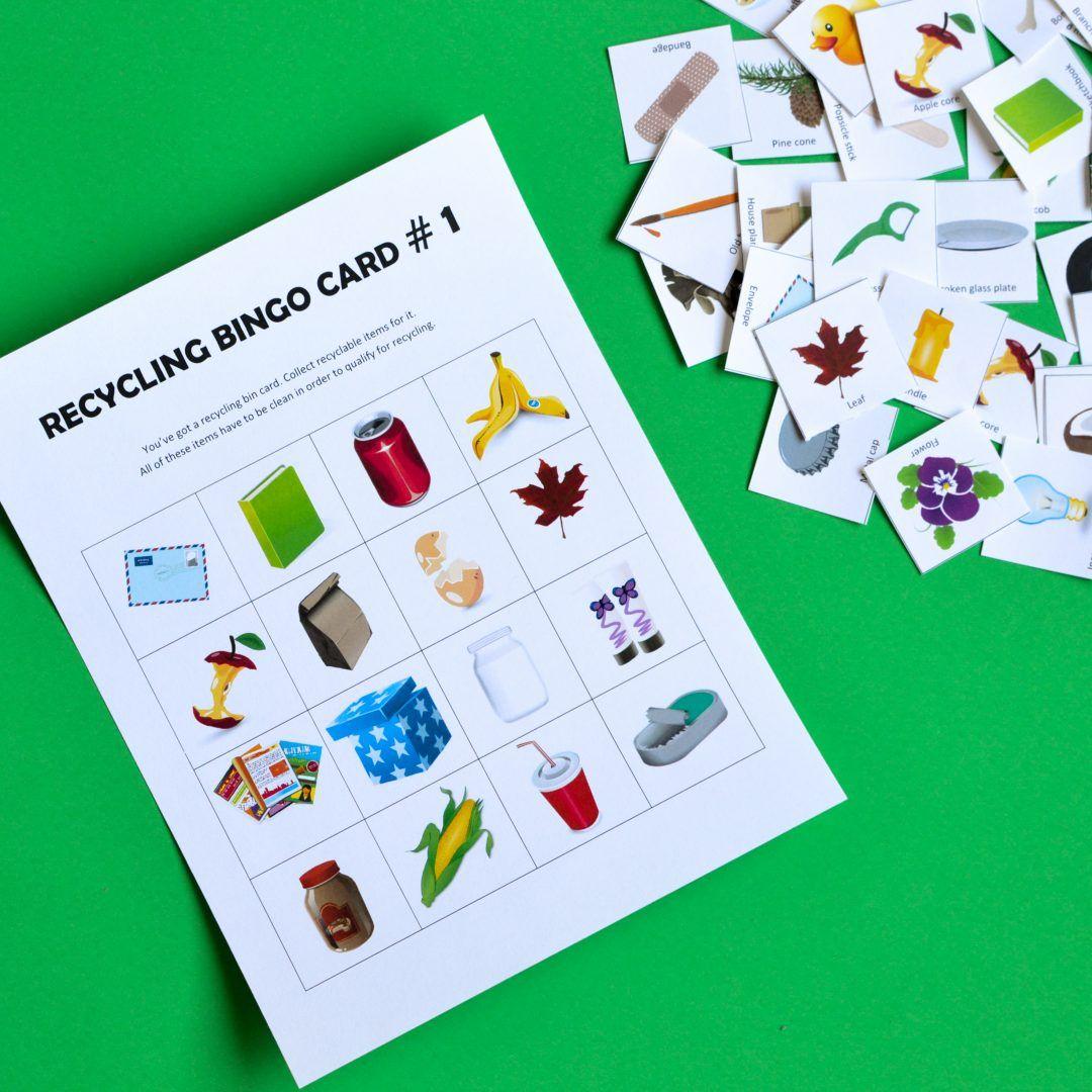Recycling Game Bingo