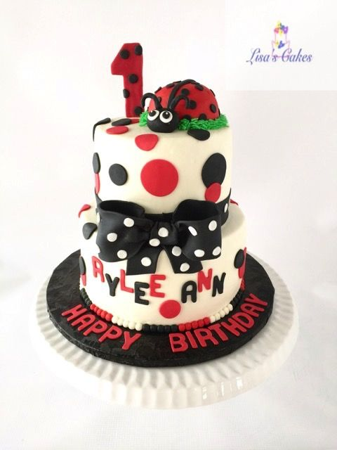 Groovy Lady Bug First Birthday Cake Cake Childrens Birthday Cakes Birthday Cards Printable Benkemecafe Filternl