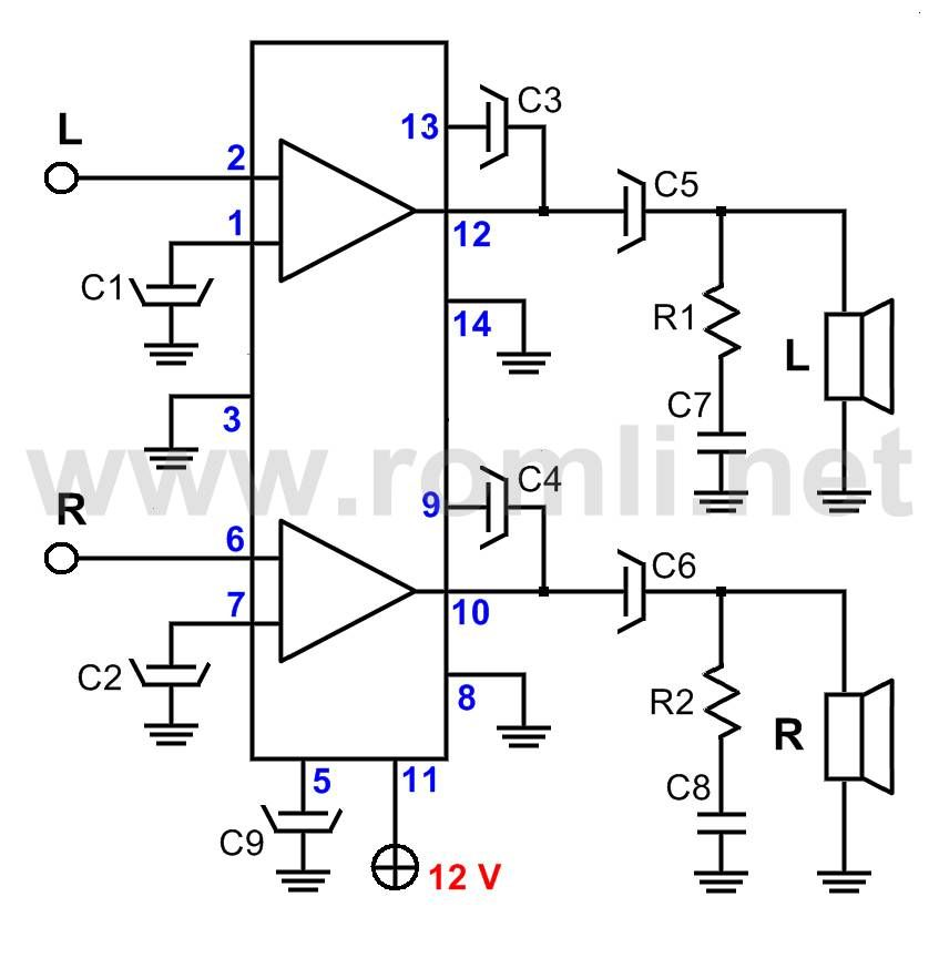 mini amplifier with ic la4440
