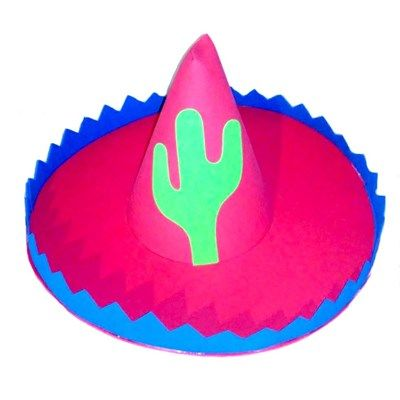Chapéu Sombrero Fiesta Mexicano - e.v.a. - cores sortidas - unidade ... ef0778211ce