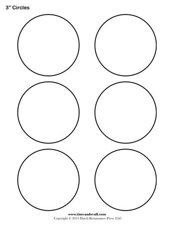 A Printable Circle Template Sheet